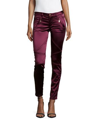 Slim-Fit Pieced Stretch Jeans