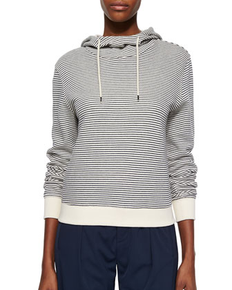 Listado Striped Hooded Sweatshirt & Pleated Pull-On Cuffed Pants