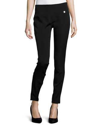 Low-Rise Straight-Leg Pants