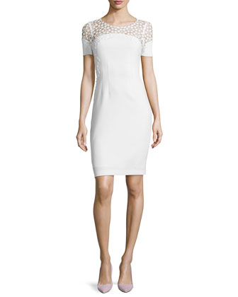 Suzie Sheath Dress W/ Crochet Top