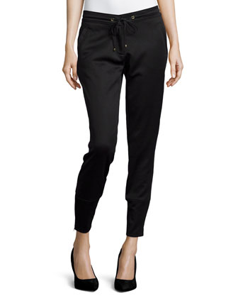 Straight-Leg Jogger Pants, Black
