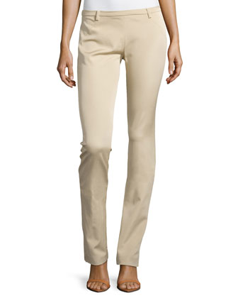 Low-Rise Straight-Leg Trousers