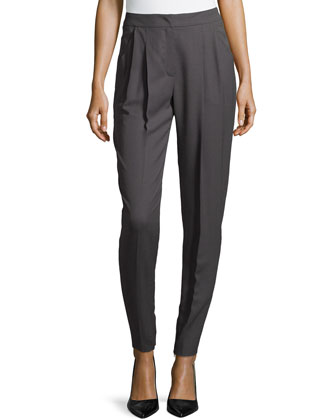 Moderate-Rise Tapered-Leg Pants