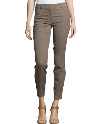 Moderate-Rise Skinny Cropped Pants