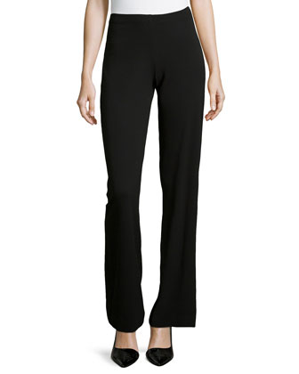 Stretch Knit Pull-On Trousers