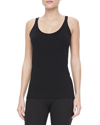 Cashmere-Blend Scoop-Neck Tank