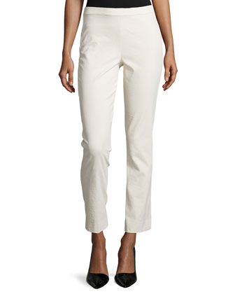 Cropped Skinny Pants in Stretch Knit