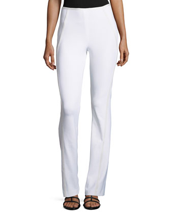 Bootcut Pants with Seamed Details