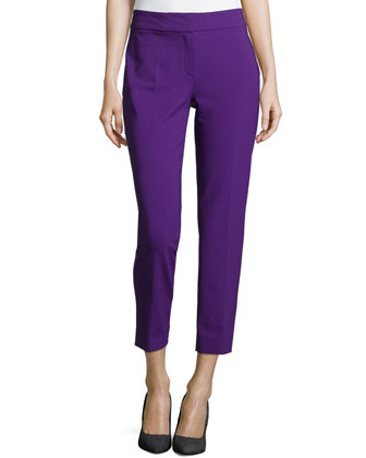 Straight-Leg Ankle Pants, Iris
