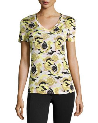 Short-Sleeve Abstract-Print T-Shirt