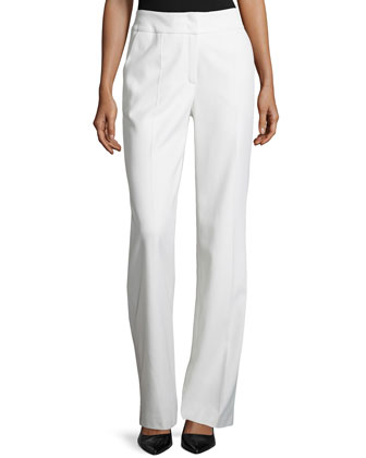 Banded Waist Wool Pants, Off White