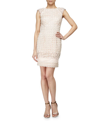 Lattice Beaded Cocktail Dress