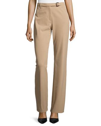 Belted Slim Pants, Caramel
