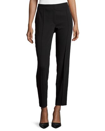Tuxedo-Style Straight-Leg Pants
