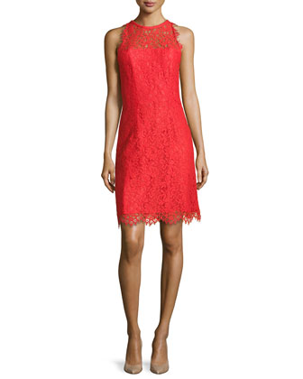 Bella Sleeveless Lace Sheath Dress