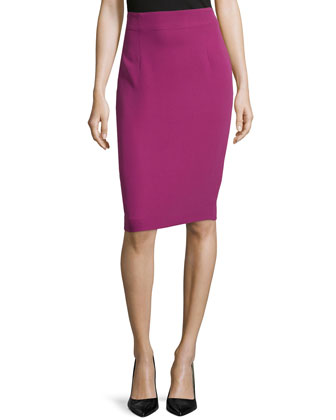 Knee-Length Pencil Skirt, Anemone
