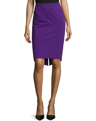 Ruched Back Pencil Skirt, Iris