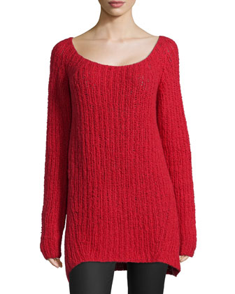 Long-Sleeve Wide-Neck Sweater