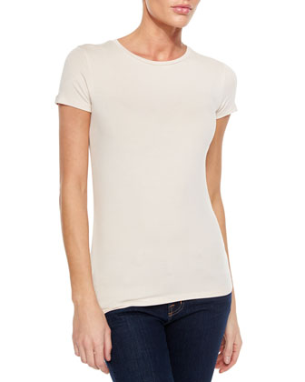 Short-Sleeve Soft Touch Crewneck Tee