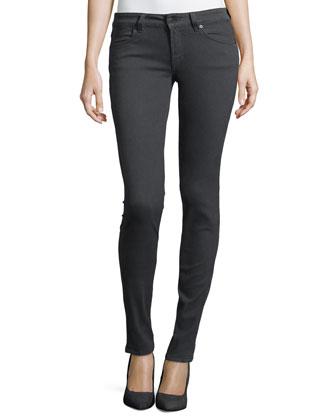 Slim-Fit Low Rise Pants, Earl Gray