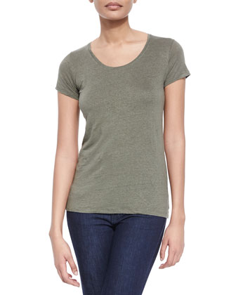 Scoop-Neck Short-Sleeve Tee