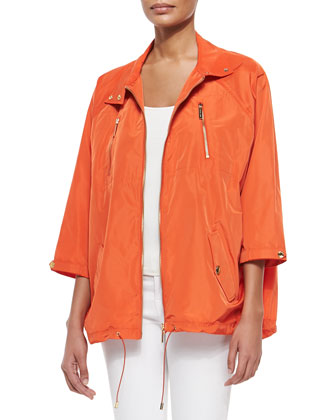 Nylon Dolman Anorak Jacket, Women's