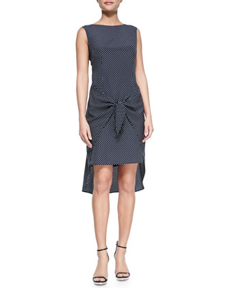 Adriatic Dot Tie Dress