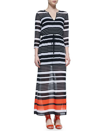 Helsinki Striped Maxi Dress