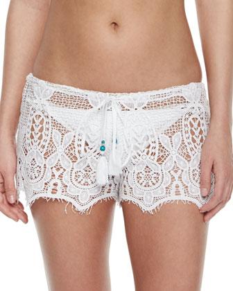 Minnie Cotton Crochet Shorts