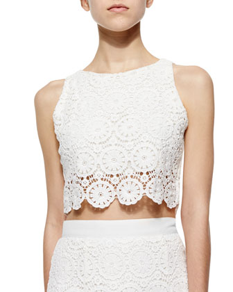 Rosi Floral-Lace Crop Top