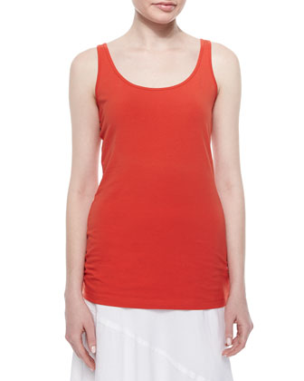 Scoop-Neck Perfect Tank, Fire, Women's