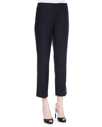 Slim Chloe Cropped Pants, Midnight