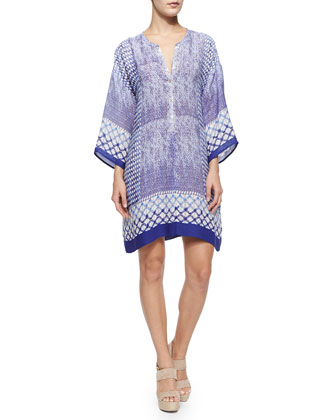 Roman Tiles Tunic Dress, Petite