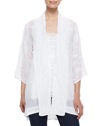 Meadow Kimono Georgette Jacket