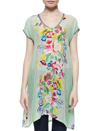 Milla Long Printed Tunic, Women's