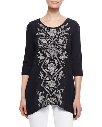 Pandora Embroidered Long Tunic, Women's
