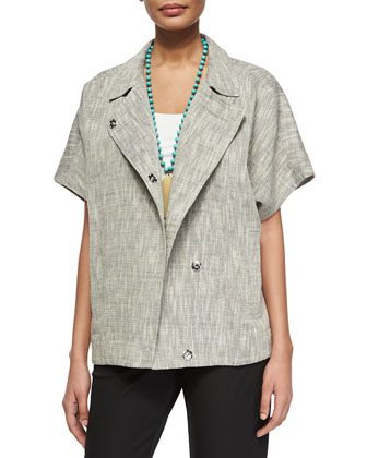 Short-Sleeve Boxy Jacket