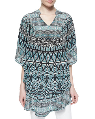 Belle Printed Long Tunic, Belle, Women's