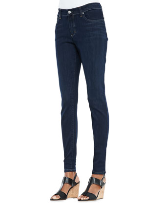 Organic Soft Stretch Skinny Jeans, Washed Indigo, Petite