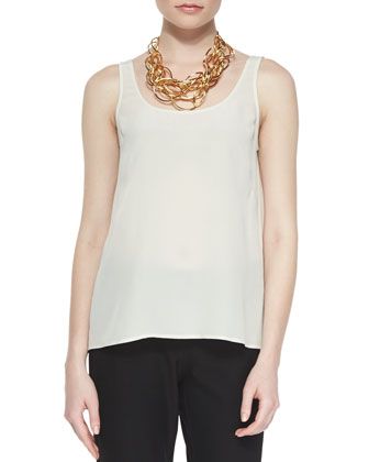 Silk Crepe de Chine Tank, Women's