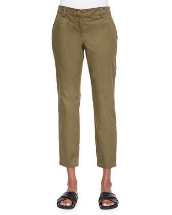Twill Ankle Pants, Women's