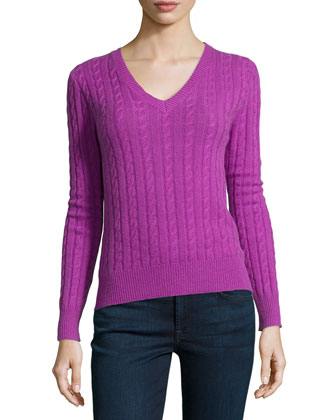 Cable-Knit Cashmere Top