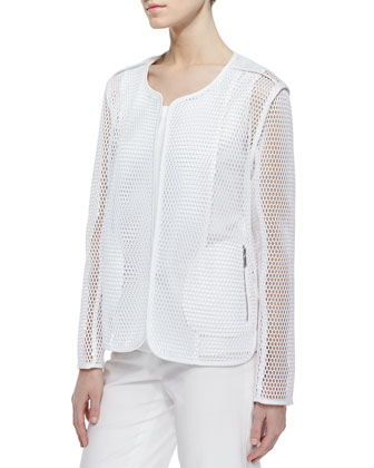 Charlane Perforated Topper Jacket