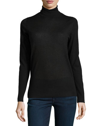 Fine-Gauge Cashmere Turtleneck