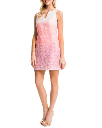 Ombre Caftan Shift Dress, Petal Pop