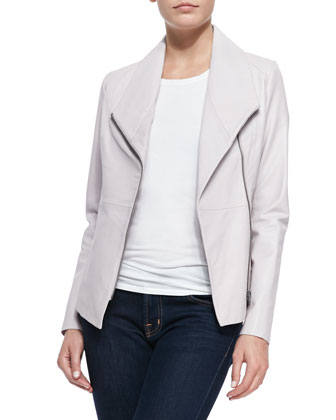 Orchid Leather/Jersey Jacket