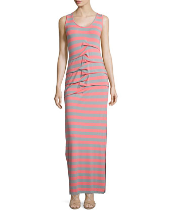Vanessa Striped Jersey Maxi Dress