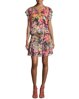 Viola Floral Georgette Dress