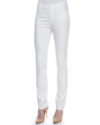 Doris Two-Zip Jacket & Curvy Slim-Leg Print Jeans