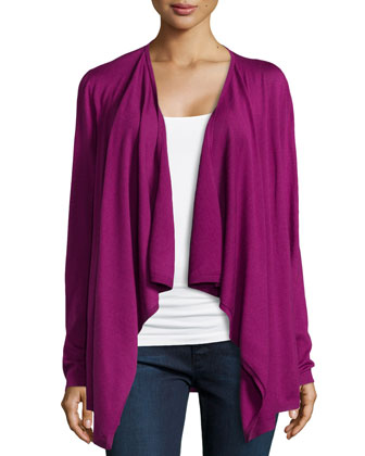Silk-Back Cashmere Cardigan
